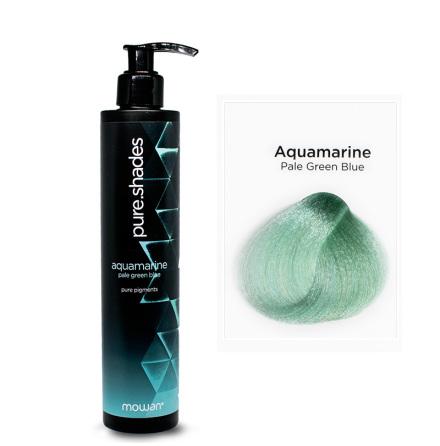 Pure shades aqua marine pale green blue